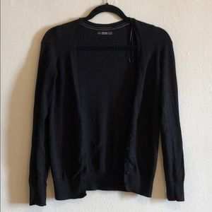 Bershka black knitted button up cardigan sweater
